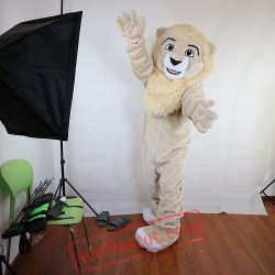 Beige Lion Mascot Costume for Adult