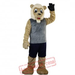 Sport Beige Lion Mascot Costume for Adult