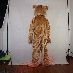 Yellow-Brown Lion Mascot Costume for Adult