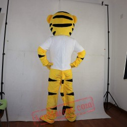 Yellow Sport Tiger Mascot Costume for Adult