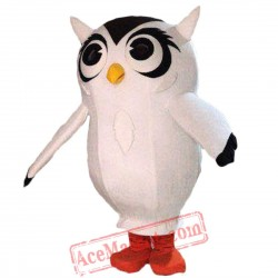 Big White Owl Mascot Costume for Adult