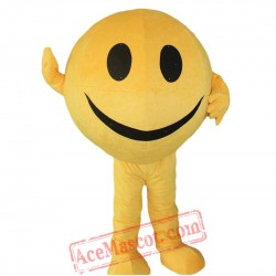 Yellow Smiley Face Ball Mascot Costume for Adult