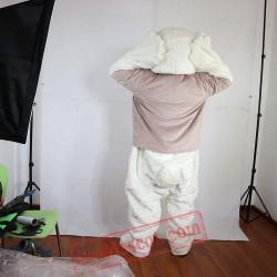 White Bear Mascot Costume for Adult