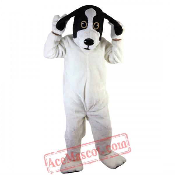 Black And White Dog Mascot Costume for Adult