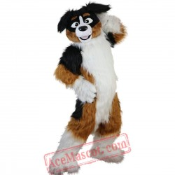 Yellow Dog Husky Mascot Costume for Adult
