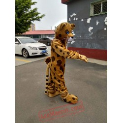 Yellow Brown Leopard Mascot Costume for Adult