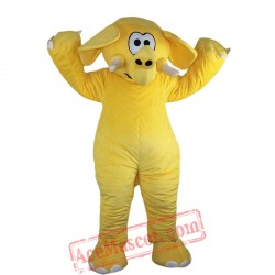 Yellow Elephant Mascot Costume for Adult