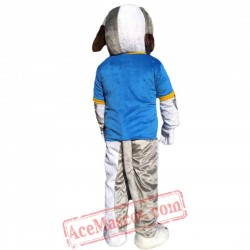 Grey Dog Mascot Costume for Adult