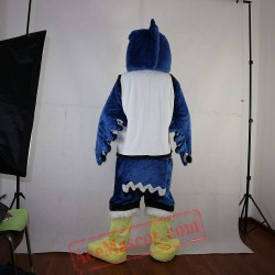 Blue Eagle Mascot Costume for Adult