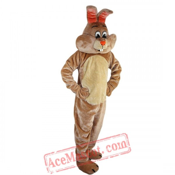 Beige Rabbit Mascot Costume for Adult