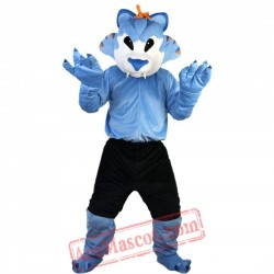 Blue Wolf Mascot Costume for Adult