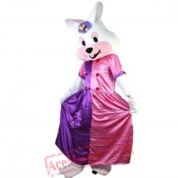White Rabbit Princess Mascot Costume for Adult