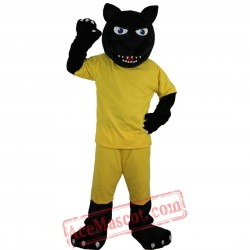 Black Leopard / Panther Mascot Costume for Adult