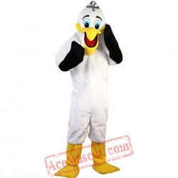 White Pelican Toucan Mascot Costume for Adult
