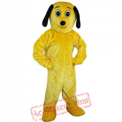 Yellow Dog Mascot Costume for Adult