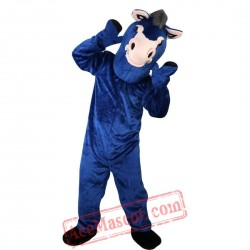 Blue Donkey Mascot Costume for Adult