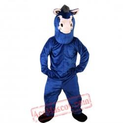 Blue Donkey Mascot Costume for Adult