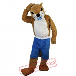 Yellow Ferret Skunk Mascot Costume for Adult