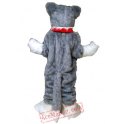 Grey Wolf Mascot Costume for Adult