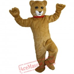 Yellow Cat Mascot Costume for Adult