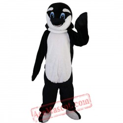 Black Dolphin Mascot Costume for Adult
