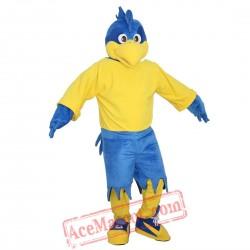 Blue Sport Eagle Mascot Costume for Adult