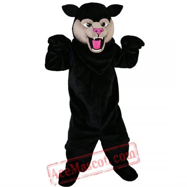 Black Felis Silvestris Cat Mascot Costume for Adult