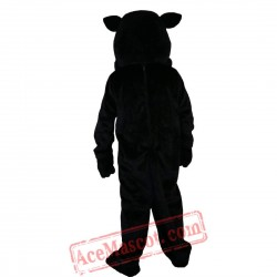 Black Felis Silvestris Cat Mascot Costume for Adult
