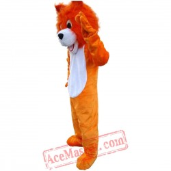 Orange Lion Mascot Costume for Adult