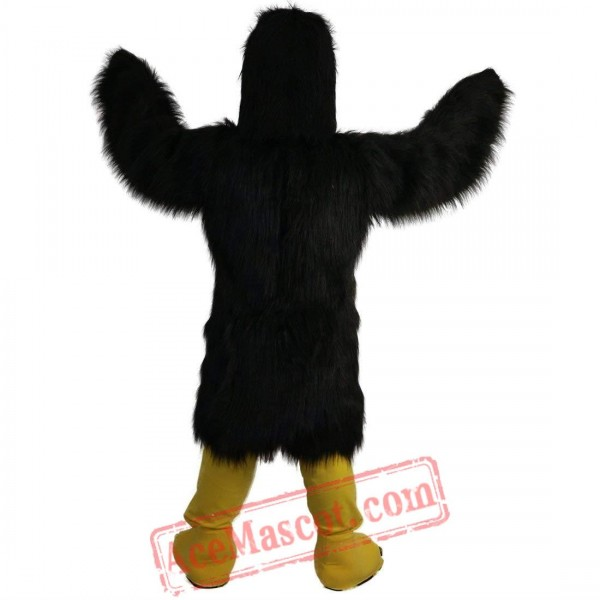 Black Eagle Mascot Costume for Adult