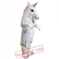 White Horse Unicorn Mascot Costume for Adult