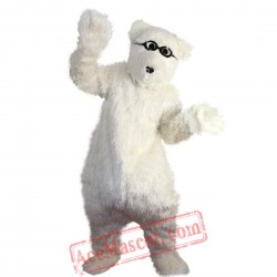 White Polar Bear Mascot Costume for Adult