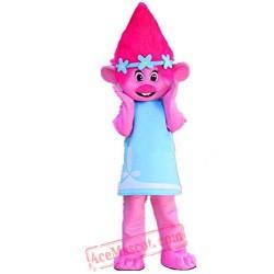 Trolls Poppy Mascot Costume Cartoon Character Mascot