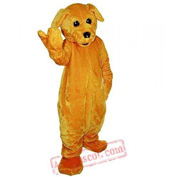 Yellow Dog Animal Mascot Costume