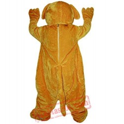 Yellow Dog Animal Mascot Costume