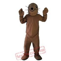 Brown Sea Lion Mascot Costume