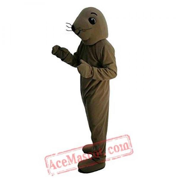 Brown Sea Lion Mascot Costume