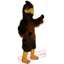Strong Brown Eagle Mascot Costume