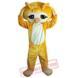 Yellow Cat Animal Mascot Costume