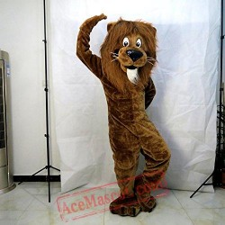 Brown Lion King Mascot Costume