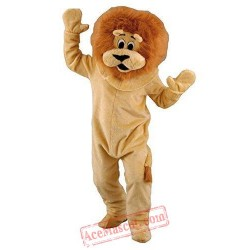 Long Hairs Brown Lion Mascot Costume