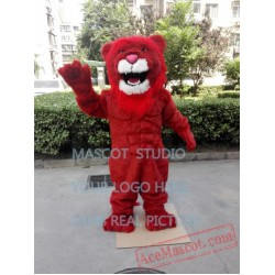 Red Lion Mascot Costume Plush