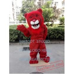 Red Lion Mascot Costume Plush