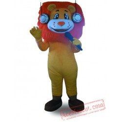 Professional Orange Hair Lion Mascot Costume
