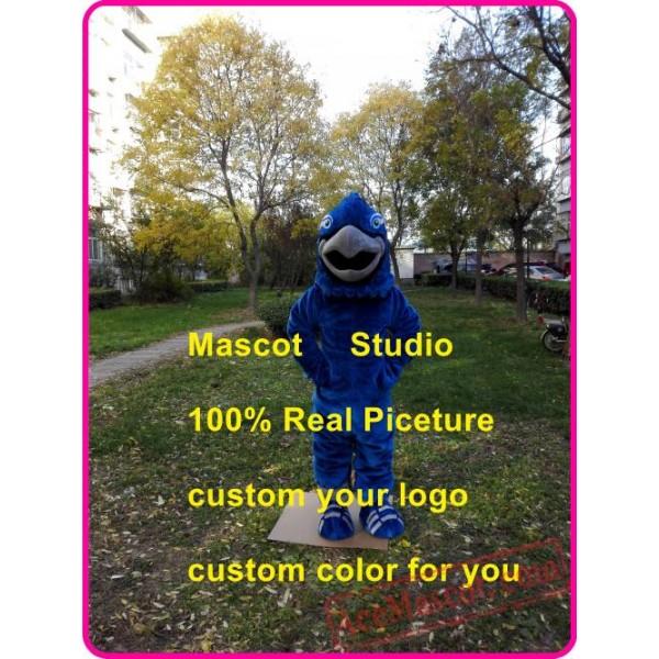 Blue Falon Mascot Costume Eagle / Hawk