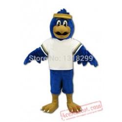 Blue Hawk Mascot Costume Eagle / Falcon