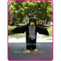 Plush Eagle Mascot Costume Blad Eagle