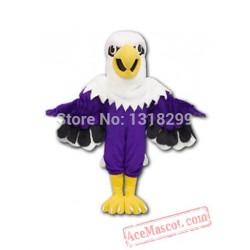 Purple Eagle Mascot Costume