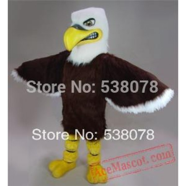 Brown Fierce Eagle Mascot Costume