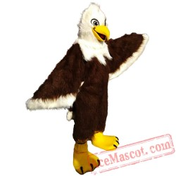 Brown Long-Haired Eagle Mascot Costume
